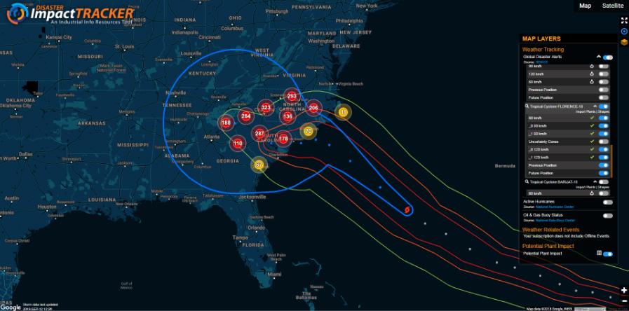 Disaster Impact Tracker - Hurricane Florence