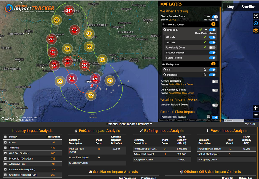 Disaster Impact Tracker - Tropical Storm Barry